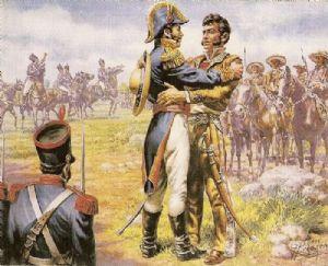 Abrazo de Acatempan - Ilustración de El Diario de Coahuila